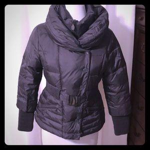 Tahari Dark Gray Puffer Jacket. Size M